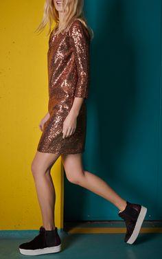 Annalisa Sequin Shift Dress by No. 21 - Moda Operandi