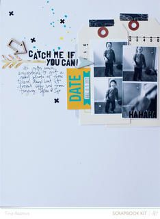Catch Me  by lifelovepaper at Studio Calico using the Block Party scrapbook kit and add ons