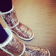Sparkly Uggs I want them sooo bad! I know a girl who has them and they look awsome on her!