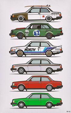Volvo 240 Series Coupes – 242 GT, slammed, Nordica Racing, rat #Volvo track car, slammington, Volvofornia #240 #Brick