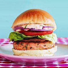 Asian-Style Salmon Burger BLTs