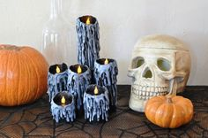 Toilet Paper Roll Candles Directions