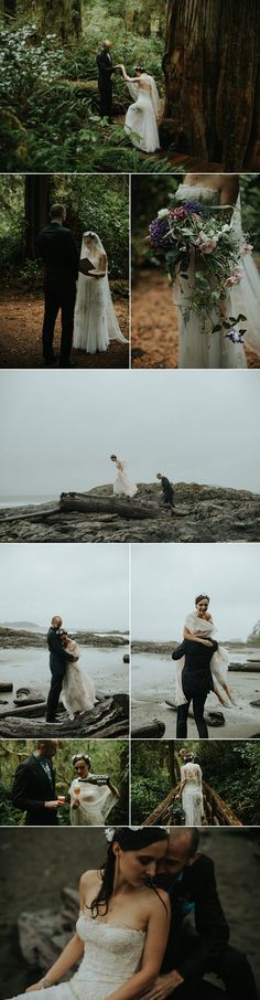 This Tofino beach wedding is one of our 21 favorite elopements  photos by Daring Wanderer