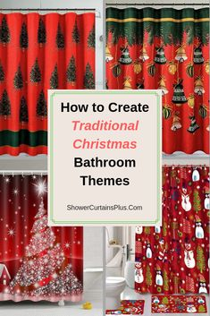 Christmas Fireplace Red Socks Stone Wall Shower Curtain Set Bathroom Decor 180cm