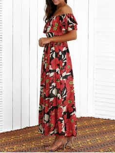 GET $50 NOW | Join RoseGal: Get YOUR $50 NOW!http://www.rosegal.com/bohemian-dresses/flounced-floral-print-maxi-dress-692400.html?seid=3294964rg692400