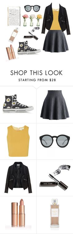 """Ready for spring 2016"" by esmekeee ❤ liked on Polyvore featuring Converse, Chicwish, Topshop, Marc Jacobs, PEONY, Zizzi, Bobbi Brown Cosmetics and Henri Bendel"