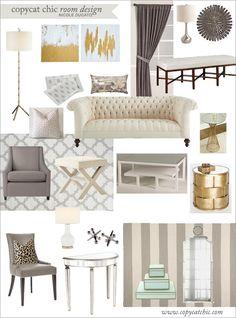 Entry & Living Room for $3,500. Like the stripes