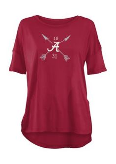 Royce University Of Alabama Arrow Printed Short Sleeve Tee - Crimson - Xl