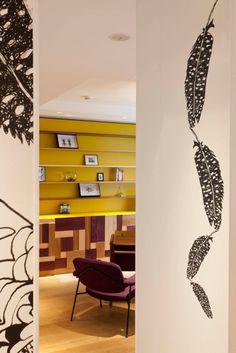 Artist Julie Gauthron helps Hotel Crayon Paris explore color blocking