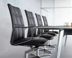 Lead Chair- Walter Knoll - Black - Leather - Conference - Meeting - Forza
