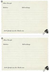Rezeptkarte zum Ausdrucken   free printables   Pinterest   Free ...