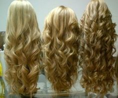 Different types of curls.