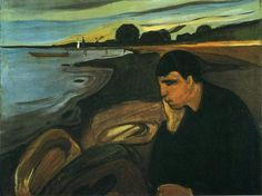 Melancholy, 1894 by Edvard Munch