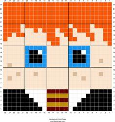 Ron Weasley   Designed by PixiTrix (Kimberly Allard)   Stitch Fiddle - Stitch…