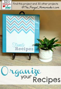 Organize your Recipes (day 24 of 31 days of Pinterest)