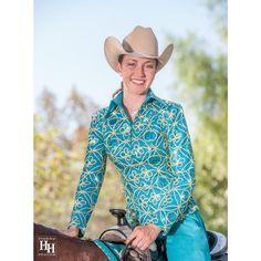 Kareena Show Jacket - Turqua - Complete Look with Horse