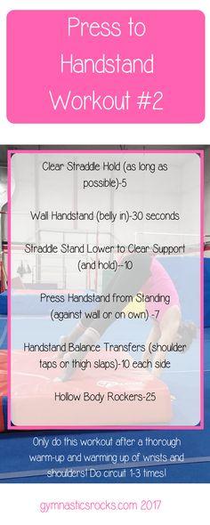 Gymnastics at Home: Press Handstand Conditioning Workouts – Gymnastics Rocks! Gymnastics Stretches, Gymnastics Tricks, Gymnastics Skills, Gymnastics Quotes, Gymnastics Workout, Wall Handstand, Press Handstand, Gymnastics Conditioning, Conditioning Workouts