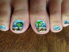 Beach nail art by Brittany Beach Nail Art, Beach Nails, Summer Nails, Brittany, Spring, Summery Nails, Summer Nail Art, Bretagne, Summer Toenails