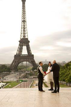 A Romantic Ceremony in Paris on http://whimsicalwonderlandweddings.com