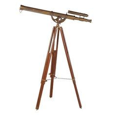 Decorative Traditional Brass Telescope On Stand