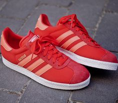 adidas Originals Gazelle II – Vivid Red / Infrared – Running White