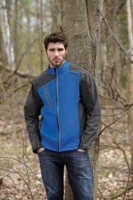 Promotional Products Ideas That Work: TERRAIN MEN'S COLOR-BLOCK SOFT SHELL WITH EMBOSSED PRINT. Get yours at www.luscangroup.com