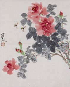 sumi-no-neko:  소송 김정현  Kim JeongHyun (  1915 - 1976)장미 Roses