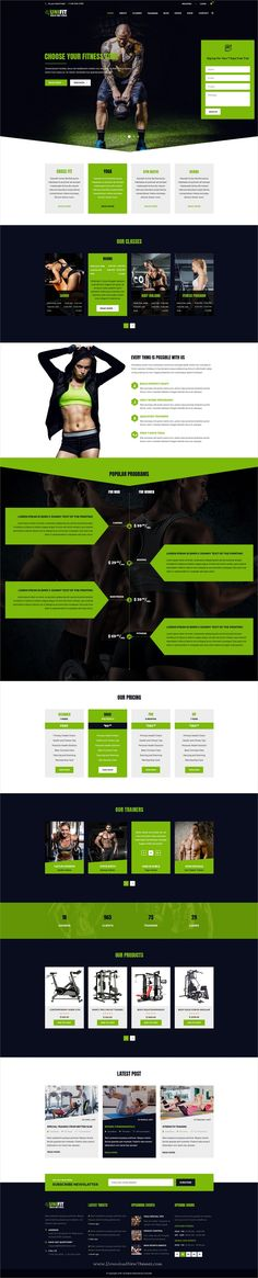 UniFit is clean and modern design PSD #template for #gym and #fitness centers website with 18+ layered PSD files download now.. Website Layout, Website Ideas, Anytime Fitness Gym, Pet Websites, Web Design Inspiration, Design Ideas, Sports Therapy, Landing Page Design, Photoshop Cs5