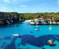 Cala Blanca, Menorca, Balearic Islands with Sunway