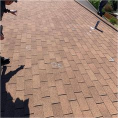 Make sure you're properly secured when you're on the roof. This is very important because many people are hurt or killed every year as a result of a fall from a roof. You Know Where, Where To Go, Diy Home Repair, Roofing Contractors, Lots Of Money, Picture Link, How To Run Longer, Stepping Stones, Outdoor Decor
