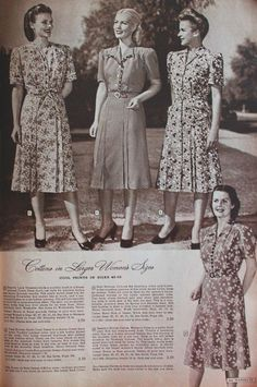 1940s plus size summer dress