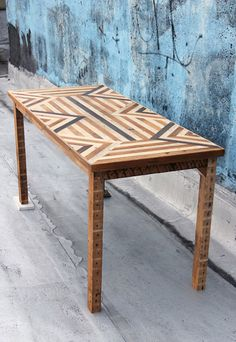 Another lovely reclaimed wood table by Ariele Alasko Reclaimed Wood Projects, Reclaimed Wood Furniture, Salvaged Wood, Pallet Furniture, Vintage Furniture, Home Furniture, Furniture Design, Pallet Beds, Repurposed Wood
