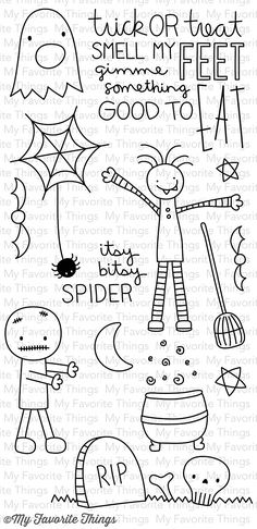 Trick or Treat Clear Stamps by Miss Tiina for My Favorite Things!!