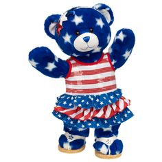 Stars and Stripes Star Style Teddy from Build-A-Bear Workshop! off to whomever has a valid military i. during memorial day weekend at Build a Bear! Boyds Bears, Teddy Bears, Build A Bear Outfits, Online Gift Shop, Bear Art, Old Glory, Fourth Of July, Star Fashion, Cute Pictures