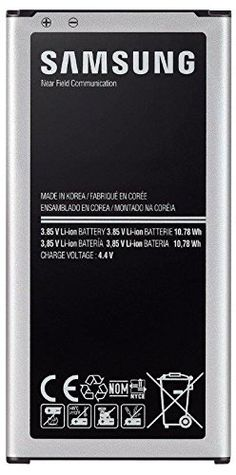 Samsung Galaxy S5 2800 mAh Battery - Compatible with all models of the Samsung Galaxy S5 G900 Cell Phone (Original from Samsung)  http://topcellulardeals.com/product/samsung-galaxy-s5-2800-mah-battery-compatible-with-all-models-of-the-samsung-galaxy-s5-g900-cell-phone-original-from-samsung/  This battery is equipped with an NFC antenna, allowing your handset to communicate with other devices and accessories equipped with NFC technology. Compatibility: All Samsung Galaxy S5 mo