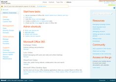 Office 365 Administration Portal Office 365, Microsoft Office, Portal, Infographic, Infographics, Visual Schedules