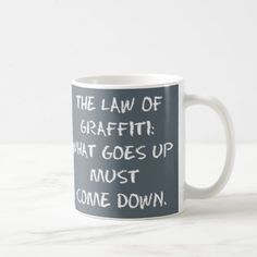 The Law of Graffiti Puzzle Mug - home gifts ideas decor special unique custom individual customized individualized