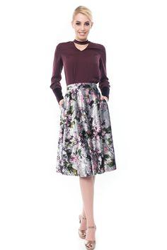 Velvet Skirt, Chocker, Floral Prints, Box, Skirts, Fabric, Sleeves, Inspiration, Tela