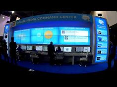 Salesforce Social Media Command Center, in the North Hall, of the Las Vegas Convention Center, 2013 International CES. Social Business, Business Technology, Command Centers, Business Intelligence, Community Manager, Dashboards, Labs, Centre, Modern Design