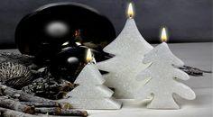 Hacer velas con forma de árbol de Navidad efecto nieve