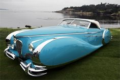 A 1949 Delahaye 175 S is shown on display at the Pebble Beach Concours d'Elegance in Pebble Beach, Calif.