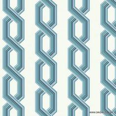 Papel de parede Decoração Geométrico Origini 204-17, Wallpaper, Importado, Lavável, Superfície lisa, Tons de  Azul e Branco