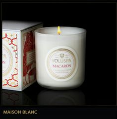 Voluspa candles. They come in great, unique scents and effectively fragrance a room. Worth the money!
