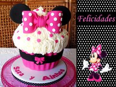 Image detail for -Cupcake's house: Cupcake Gigante de Minnie Mouse