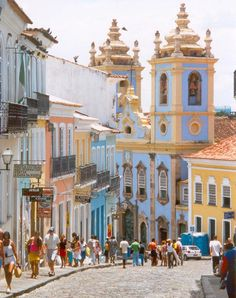 The Historic Centre of Salvador da Bahia is extremely rich in historical monuments dating from the through the centuries. Salvador was the first colonial capital of Brazil and the city is. Places Around The World, Oh The Places You'll Go, Travel Around The World, Places To Travel, Places To Visit, Around The Worlds, Vacation Places, Vacations, Bahia Brazil