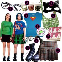 DIY the look of Enid Coleslaw from comic book and movie Ghost World.