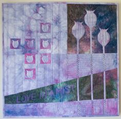 """Nigella by Maggie Birchenough:  """"My final City and Guilds quilt, Nigella, will be travelling to Canada for the Ailsa Craig Quilt Festival  in Ontario which takes place between May 19th – 24th 2014."""""""