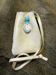 Deer Totem Medicine Bag Deer Leather Bag Pouch by SpeaksWithAncestors on Etsy