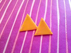 Gravity Falls Mabel Nacho Earrings by BeanDesu on Etsy, $10.00