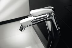 Deck-mounted bidet mixer, Chrome finishing